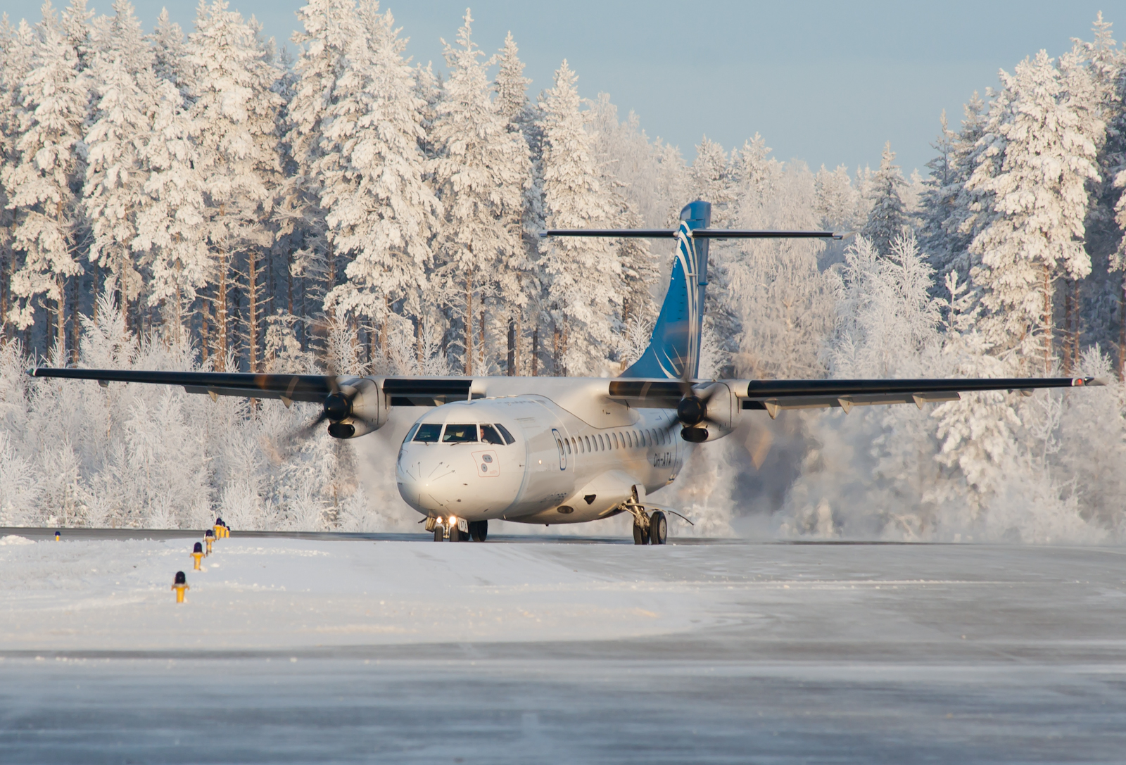 ATR42 Airplane In the Snow