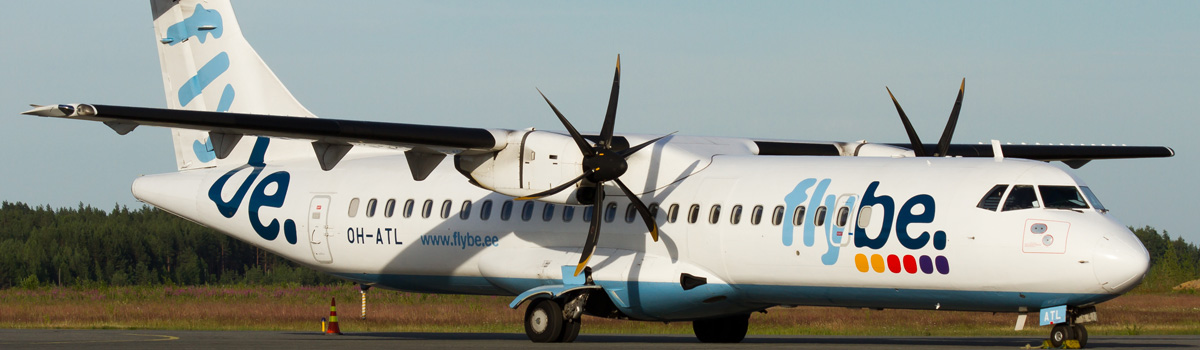ATR72 Airplane on the ground