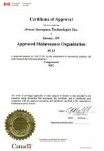 Approved Maintenance Organization Certificate